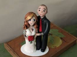 wedding cake topper with tattoos personalized bride and groom