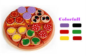 27 pcs En Bois Pizza Enfants Cuisine Jouets Alimentaire Simulation