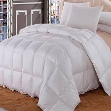 Grey Down Comforter Bedroom King Size Down Comforter With Brown Ceramic Floor And