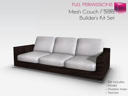 Couch And Sofa by Second Life Marketplace Full Perm Mesh Couch Sofa Builder U0027s