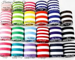 hairbow supplies candy striped ribbon in 7 8 and 1 1 2 hairbow supplies etc