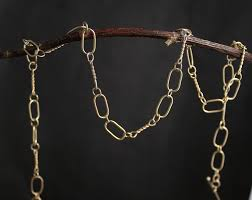 link necklace images Handmade gold chain solid 14k yellow gold chain link necklace jpg
