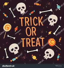 Halloween Card Invitation Elements Halloween Inscription Trick Treat Surrounded Stock Vector