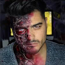 comment faire un maquillage de squelette maquillage homme halloween u2013 16 idées pour réussir une