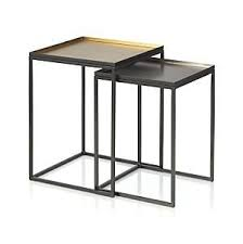 crate and barrel nesting tables ami nesting tables set of 2 in coffee tables side tables crate