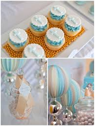 Blue And Gold Baby Shower Decorations by