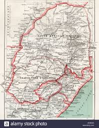 Map Of South Africa by Map Of South African Republic Orange Free State And Natal Circa