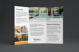 free real estate trifold brochure template brandpacks