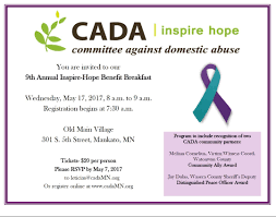 Victim Witness Coordinator Letter Cada To Honor Community Allies At Annual Inspire Hope Benefit