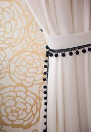 White Curtains With Pom Poms Decorating Christine Dovey Pine Room 9 Pom Pom Curtains Gold Hygge And