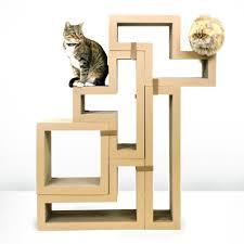 modern scratching post handmade cat trees diy tree using real cheap ikea stolmen shelves