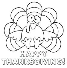 thanksgiving turkey coloring pages a page that says happy