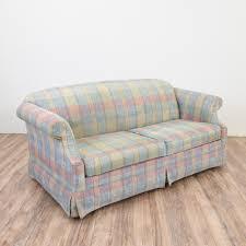 Apartment Sleeper Sofa by Best Plaid Sleeper Sofa 77 In Apartment Size Sleeper Sofas With