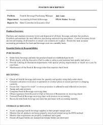 Food And Beverage Manager Resume Sample by Executive Chef Job Description Chef Resume 12 Culinary Chefs