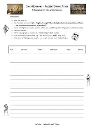 worksheet daily routine description wars stormtrooper