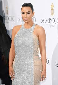 kim kardashian looks immaculate in chainmail gown at cannes