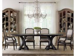 hooker furniture corsica rectangle pedestal dining table set with