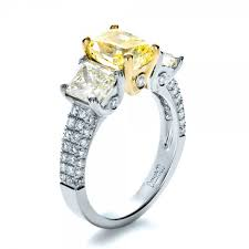 canary engagement rings custom three canary engagement ring 1198