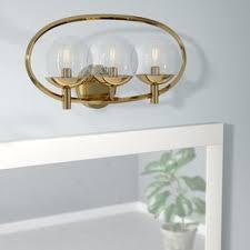 How To Install A Wall Sconce Brass Bathroom Vanity Lighting You U0027ll Love Wayfair