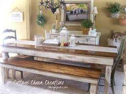 farm table with bench cottage charm creations provincial farmhouse table