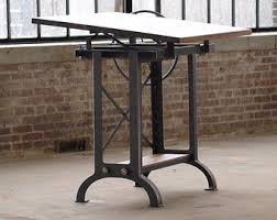 Metal Drafting Table French Industrial Drafting Table Desk