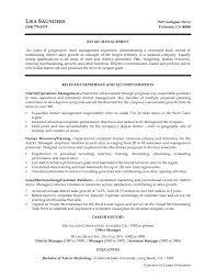 Retail Resume Sample by Retail Management Cover Letter My Document Blog