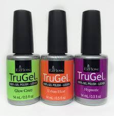 ezflow trugel gel nail polish set of any 3 colors ebay
