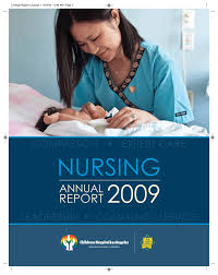 nursing annual report for 2009 children s hospital los angeles