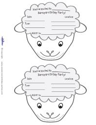 printable sheep face invitations