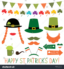 photo booth props decoration st patricks stock vector 367845104
