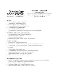 Sample Resume For Merchandiser Job Description by Bakery Clerk Cover Letter