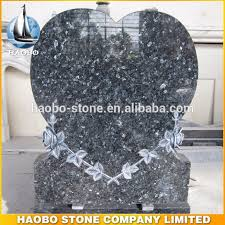 prices of headstones heart shaped blue pearl granite cemetery headstone prices buy