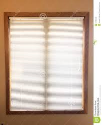 mini blinds on wood window frame stock photo image 51799429