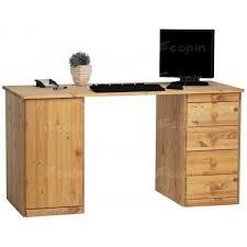 afficher la m sur le bureau bureau ministre en pin massif miel