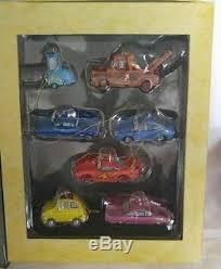 disney pixar cars storybook set of 7 ornaments in book box