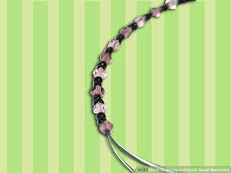 string necklace images How to string a crystal bead necklace with pictures wikihow jpg