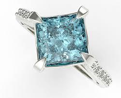 topaz engagement ring princess cut swiss blue topaz engagement ring vidar jewelry