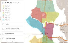 seattle map by district get to your new seattle city council district kuow news and