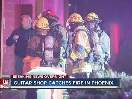 Guitar Center Desk by Fire Breaks Out At North Phoenix Guitar Center Overnight Abc15