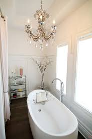 gallery of classy bathroom crystal chandelier for your interior