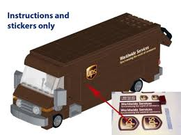 truck instructions instructions stickers ups truck 60074 10185 10133 dhl fedex usps for