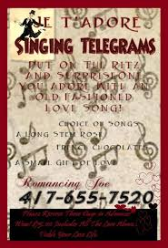 singing telegrams utah oh yes fashioned singing telegrams no i don t sing