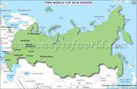 russia football map fifa world cup 2018 venues map of russia