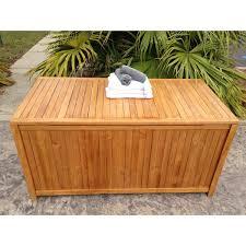 chicteak santa barbara teak deck box u0026 reviews wayfair