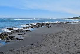 punalu u0027u black sand beach unique hawaii beaches