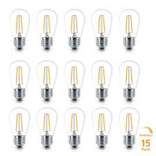 outdoor incandescent light bulbs 15 pack led bulbs perfect for ambience pro outdoor string lights