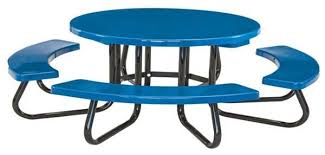round picnic tables for sale 48 round fiberglass picnic table with galvanized 1 5 8 steel frame