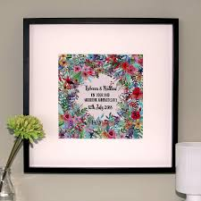 personalised cotton wedding anniversary canvas print by hopsack