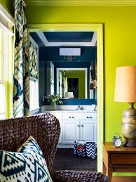 bold and trendy small bathroom makeover hgtv