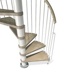 shop arke phoenix 63 in x 10 ft white spiral staircase kit at